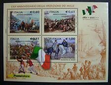 """2010 Italia  Mini Foglio """" Spedizione Dei Mille   """"   MNh**"""