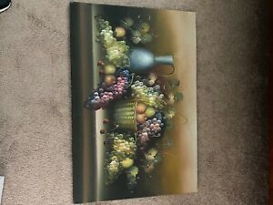 canvas oil painting 36 inches wide 24 inches long 3/4 of an inch thick