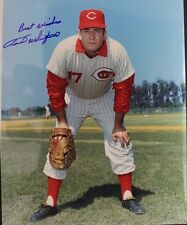 Fred Whitfield Cincinnati Reds Indians (d.2013) Autographed 8x10 Photo 17F