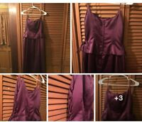Zum Zum By Niki Livas Prom Evening Gown Purple Size 9/10 Designer Prom Dress