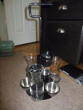 Collectible Absolute Vodka Bottle Service Caddy Black Metal with LED Lights