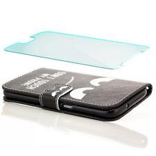 Flip Case + Glas für Samsung Galaxy S7 Edge - Schutz Hülle Handy Tasche My Phone
