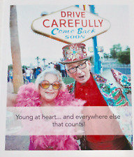 Young at heart... and everywhere else that counts! blank greetings card, humour