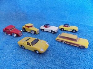Lot Of 6 Slot Cars For Parts
