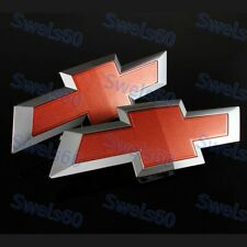 Bowtie For 2016-2019 GM Chevy Silverado 1500 Red Front & Tailgate Emblem Set