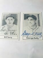 George Kelly And Bill Terry Autograph 1978 Grand Slam Card #31 and #26