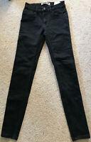 NOISY MAY Damen Stretch Jeans Gr 32 S/M schwarz