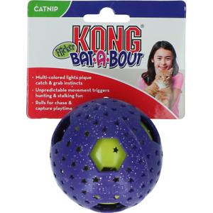 KONG Cat Bat-A-Bout Flicker Disco Light Up Ball Cat Toy Teaser