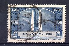 France (6958)  1936 Unveiling of Canadian Wat Memorial Sg550 Used