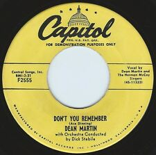 DEAN MARTIN Don't You Remember ((**45 from 1953**)) EXCELLENT VG+ PLAYS PERFECT