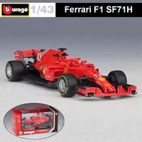 Bburago 1:43 Ferrari 2016-2018 F1 Racing Car Diecast Model K.Räikkönen S. Vettel