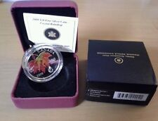 2009 CANADA SILVER $20 DOLLARS MAPLE LEAF CRYSTAL RAINDROP COIN
