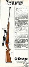 1967 Savage Model 340-V 30-30 Rifle Gun Print Ad