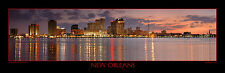 New Orleans Skyline DUSK Photograph Print Poster Photo 12x36 BIG Panoramic