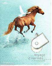 PUBLICITE ADVERTISING 076  2010  parfum Voyage d'Hermès