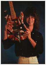 Van Halen  *LARGE POSTER* Eddie - Fender Strat Guitar - AMAZING EARLY PIC