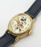 Disney Lorus Minnie Mouse Wristwatch watch Leather band
