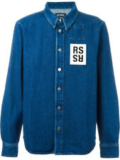 Raf Simons Appliquéd Denim Shirt M