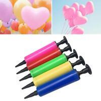 1x Portable Plastic Manual Ballon Pump Hand Push Party Balloon Inflator Air Pump