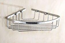 Corner Shower Caddy Basket Bathroom Chrome Cosmetic Shelf Storage/Rack fba521