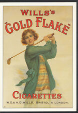 Advertising Postcard - Wills Gold Flake Cigarettes - Golf Series  DD731