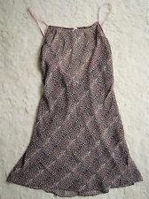 H&M Neglige Unterkleid Dessous Nachthemd XS Leo Rosa Pinup Rockabilly Animal NEU
