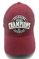 2000 NATIONAL CHAMPIONS OKLAHOMA SOONERS red adjustable cap / hat - 100% cotton