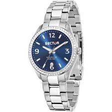 Orologio Donna SECTOR 120 R3253588514 Bracciale Acciaio Blu Swarovski 50mt