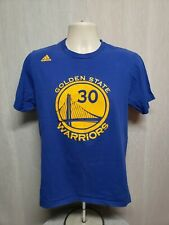 Adidas Golden State Warriors Stephen Curry #30 Adult Medium Blue TShirt