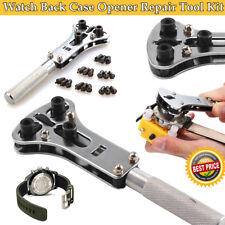Watch Repair Back Case Opener Wrenchmaker Screw Cover Remover Tool Kit UK New