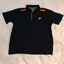 Used NHL Center Ice 'Anaheim Ducks' Black XL Play Dry Reebok Polo.