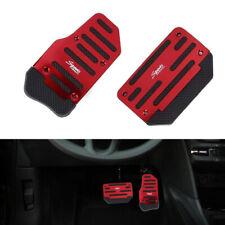 2 x Red Non-Slip Pedal Brake Foot Cover Treadle Belt Car Automatic Accelerator