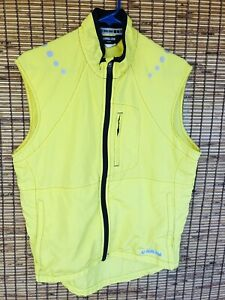 YELLOW Pearl Izumi  Reflective Sleeveless Cycling Full Zip Vest Jacket Size M