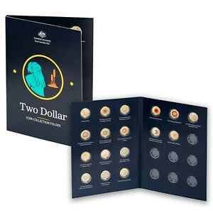 Australia $2 Two Dollar Coin Collection Folder 2012-2020 by RAM (No Coins Incl.)