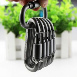 5pcs Ideal Aluminum Carabiner D-Ring Key Chain Keychain Clip Hook Outdoor Buckle