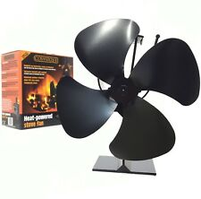 Heat Powered Stove Top Fan Wood Log Burner Eco Friendly Cosystove® 4 Blade Black