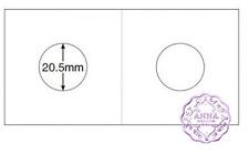 "PCCB 20.5mm Cardboard Staple 2""x2"" Coin Holders X 50 Pcs"