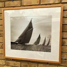 Beken of Cowes Shamrock III 1929 Framed signed Sepia Silver Gelatin No 14404