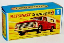 Matchbox Lesney No  6 FORD PICKUP   Empty Repro Box style G