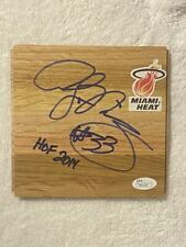 ALONZO MOURNING signed 6x6 floorboard ~ Miami Heat ~ HOF 2014 ~ JSA/COA ~  Proof