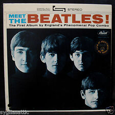 THE BEATLES-MEET THE BEATLES-Promo Album Cover-Great Condition-CAPITOL #ST 2047