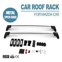 2x New Aerodynamic Cross bar / Roof rack for MAZDA CX9 2006 - 2016 lockable
