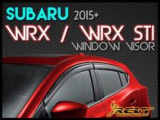 REVi USA Smoke Window Visor Shade Wind/Rain/Sun Deflectors FOR 2015+ Subaru WRX