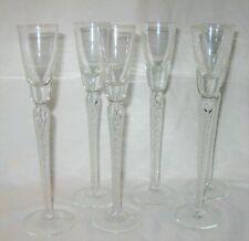 New ListingTall Inner Stem Air Twisted Cordial Liqueur Glasses Set of 6