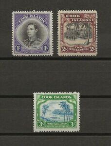 COOK ISLANDS 1938 SG 127/9 MNH Cat £85