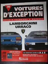 FASCICULE  78 VOITURE D'EXCEPTION LAMBORGHINI URRACO  MAZDA McLAREN MERCEDES