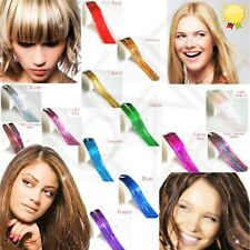 """UK 100 x Strands  Holographic & LED Hair Ext.Tinsel 48"""" Long   24 Hours Delivery"""