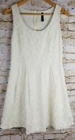 Whisper Size Small Womens Ivory Floral Lace Lined Party Dress Occasion EUC