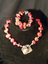 Silpada red sponge coral matching necklace/bracelet set