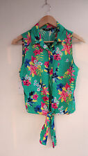 George Collared Floral Sleeveless Tops & Shirts for Women